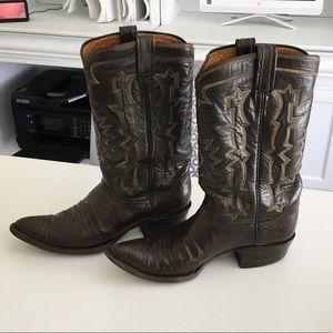 TONY LAMA Ladies Brown Cowboy Boots size 8-8 1/2